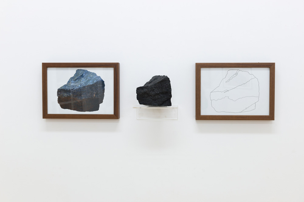 Three Rocks 1 (after Kosuth) by Jon Bird
