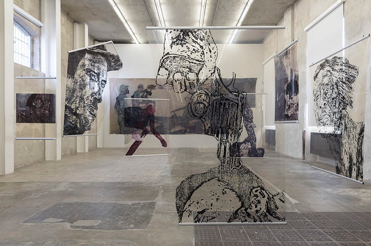 Leon Golub exhibition at Prada Fondazione, Milan.