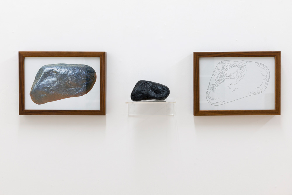 Three Rocks 2 (after Kosuth) by Jon Bird