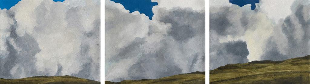 Stormy Weather, Yorkshire: triptych by Jon Bird.
